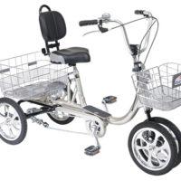 自立する安心な四輪自転車/aeroクークルM II(絶対にパンクしない・空気入れ不要)
